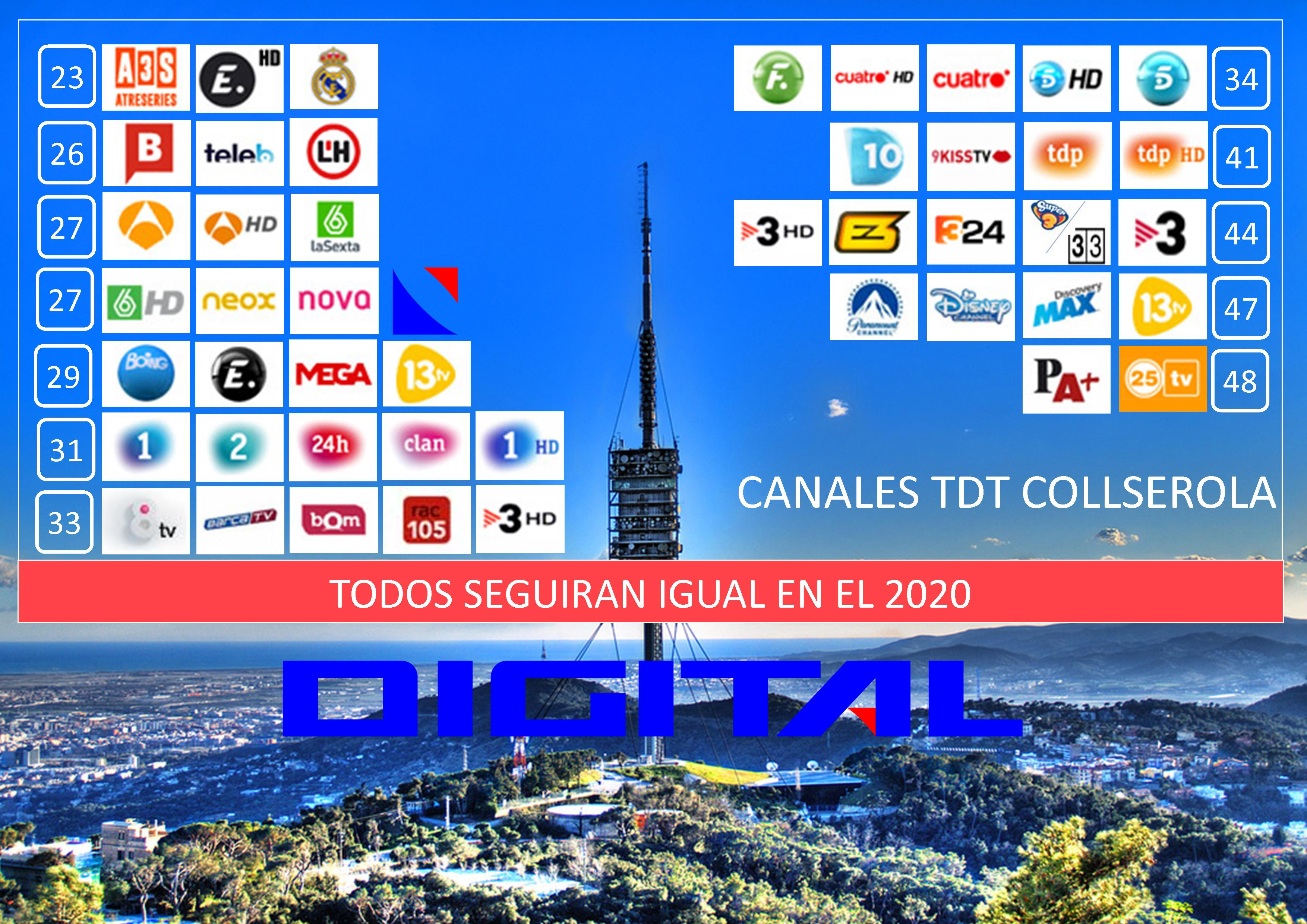 2020 canales tdt barcelona